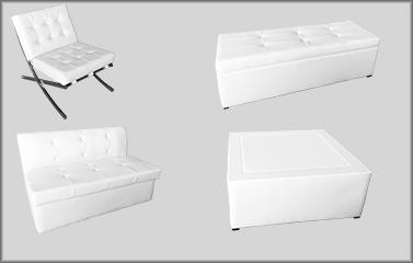 terrific varaschin summer set lounge chair white   BARCELONA LOUNGE SET - Great Events